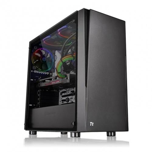Gabinete Thermaltake Versa J21 con Ventana, Midi-Tower, ATX/Micro-ATX/Mini-ITX, USB 2.0/3.0, sin Fuente, Negro