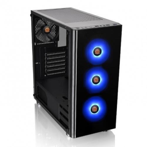 Gabinete Thermaltake V200 TG RGB con Ventana, Midi-Tower, ATX/Micro-ATX/Mini-ITX, USB 2.0/3.0, sin Fuente, Negro