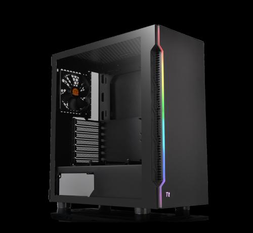 Gabinete Thermaltake H200 TG RGB con Ventana, Midi-Tower, Mini ITX/Micro ATX/ATX, USB 3.0, sin Fuente, Negro
