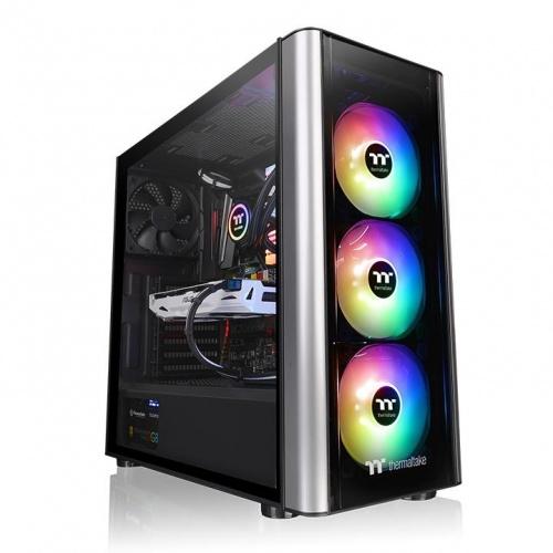 Gabinete Thermaltake Level 20 MT ARGB con Ventana, Midi-Tower, ATX/Micro-ATX/Mini-ITX, USB 3.1, sin Fuente, Negro/Plata
