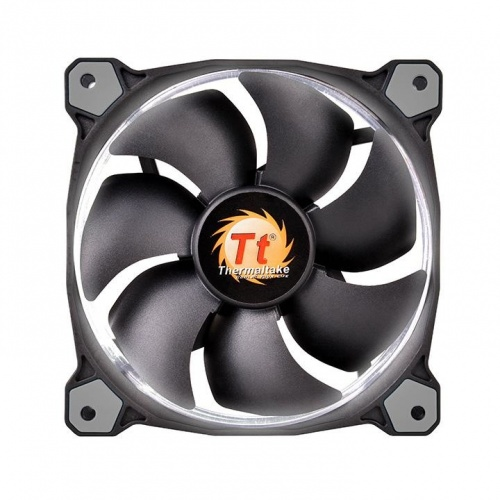 Ventilador Thermaltake Riing 12 LED Blanco, 120mm, 1000-1500RPM, Negro/Blanco