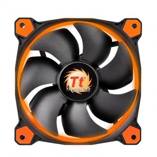 Ventilador Thermaltake Riing 14, LED Naranja, 140mm, 1400RPM, Negro/Naranja