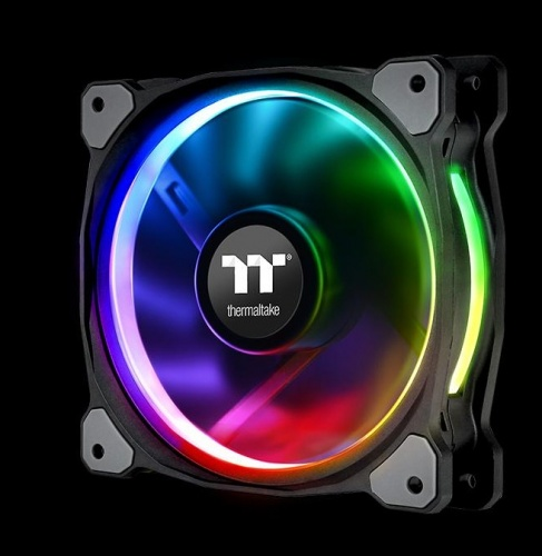 Ventilador Thermaltake Riing Plus LED RGB, 120mm, 500-1500RPM, Multicolor - 3 Piezas