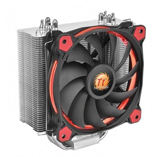 Disipador CPU Thermaltake Riing Silent 12, 120mm, 300-1400RPM, Negro/Rojo