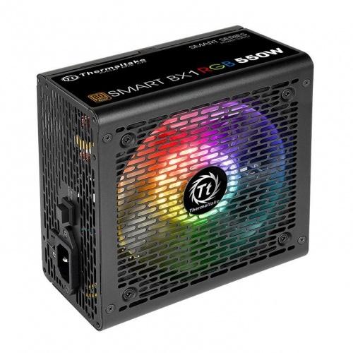 Fuente de Poder Thermaltake Smart BX1 RGB 80 PLUS Bronze, 120mm, 550W