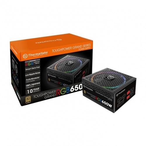 Fuente de Poder Thermaltake Toughpower Grand RGB, 24-pin ATX, 140mm, 650W