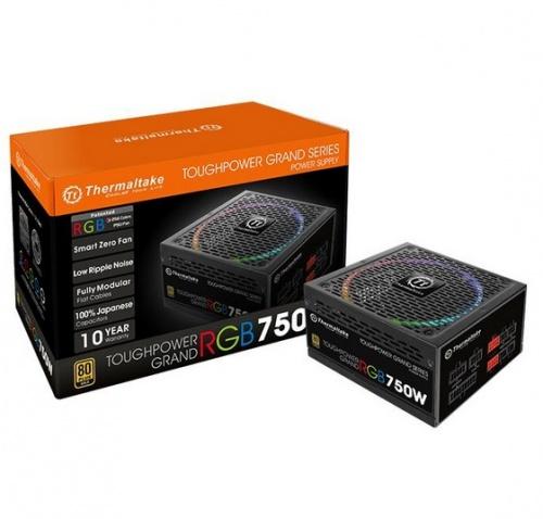 Fuente de Poder Thermaltake Toughpower Grand RGB, 24-pin ATX, 140mm, 750W ― ¡Compra y recibe $150 pesos de saldo para tu siguiente pedido!