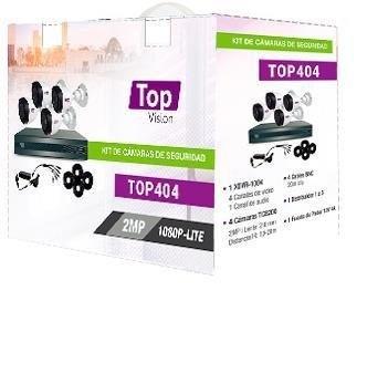 Topvision Kit de Vigilancia TOP404 de 4 Cámaras Bullet y 4 Canales, para Grabadora
