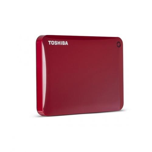 Disco Duro Externo Toshiba Canvio Connect II, 2TB, 5400RPM, USB 3.0, Rojo, con Acceso Remoto Mediante Internet - para Mac/PC