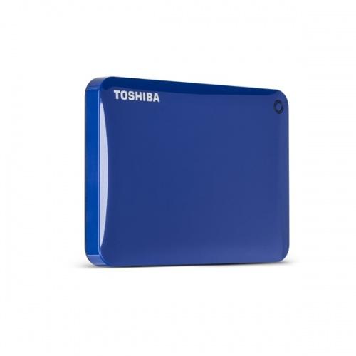 Disco Duro Externo Toshiba Canvio Connect II 2.5'', 3TB, USB 3.0, Azul - para Mac/PC