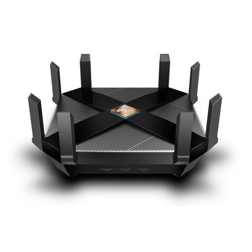 Router TP-Link Archer AX6000, Inalámbrico, 4804 Mbit/s, 8x RJ-45, 2.4GHz/5GHz, 8 Antenas Externas de Alto Rendimiento