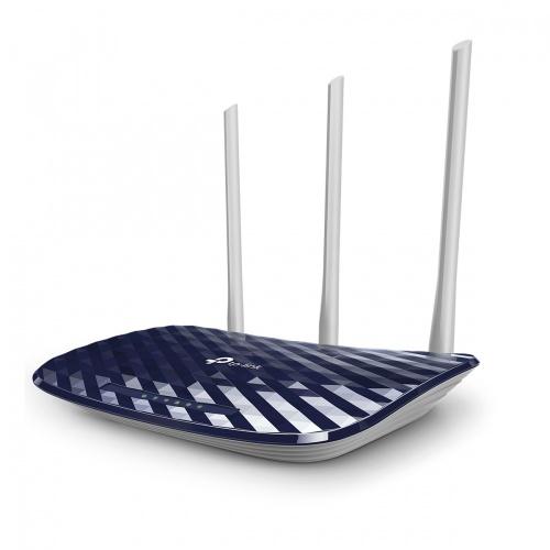 Router TP-Link de Banda Dual AC750 ARCHER C20, Inalámbrico, 5x RJ-45, 2.4-5GHz, con 3 Antenas