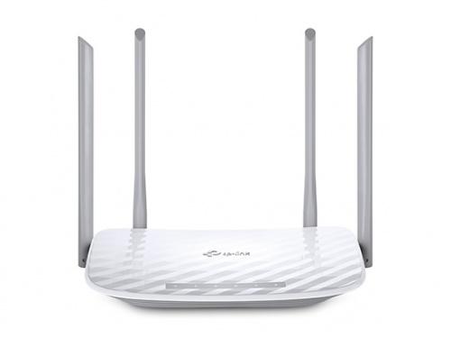Router TP-Link Fast de Banda Dual AC1200 ARCHER C50, Inalámbrico, 4x RJ-45, 2.4-5GHz, con 4 Antenas Externas