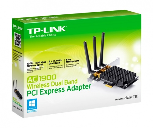 TP-Link Tarjeta PCI Express de Banda Dual AC1900, Inalámbrico, 1300 Mbit/s