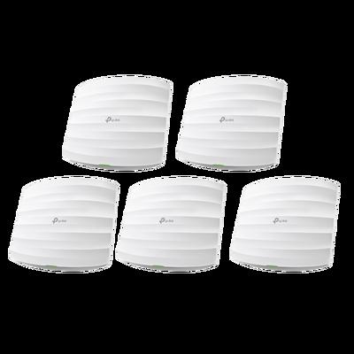 Access Point TP-Link Gigabit Ethernet de Banda Dual EAP225, 300Mbit/s, Inalámbrico, 1x RJ-45, 2.4/5GHz, 3 Antenas de 5dBi - 5 Piezas