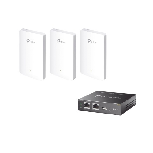 Access Point TP-Link de Banda Dual EAP225 OMADA, 867Mpbs, 1x RJ-45, 2.4/5GHz, 3 Antenas de 5dBi, 3 Piezas ― Incluye Controlador OC200