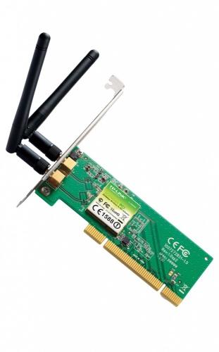 TP-LINK Tarjeta de PCI TL-WN851ND, Inalámbrico, 300Mbit/s, con 2 Antenas de 2dBi