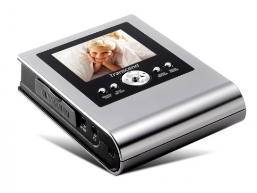"Transcend Album Digital Multimedia LCD 2.5"", Alámbrico, USB 2.0, Plata"