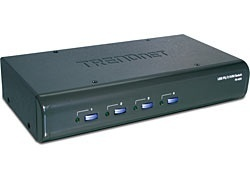 Trendnet Switch KVM TK-423K, USB+PS/2, 4 Puertos