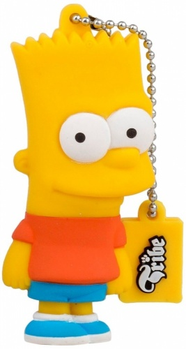 Memoria USB Tribe, 8GB, USB 2.0, Diseño Bart Los Simpsons