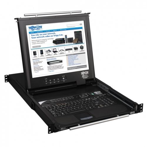 Tripp Lite Consola KVM NetDirector para Rack, 16 Puertos, 1U, incluye Pantalla 17''