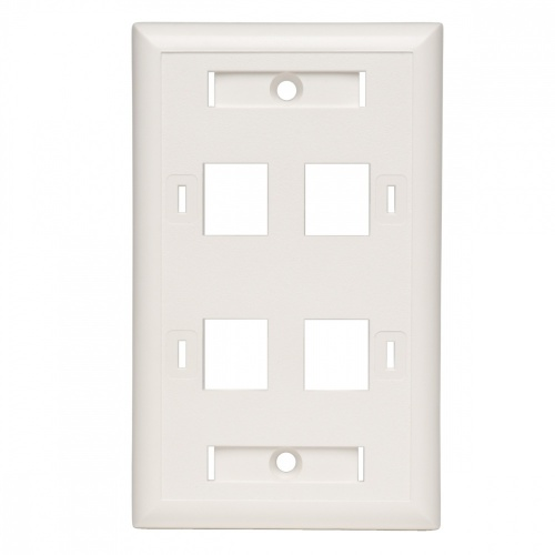 Tripp Lite Placa de Pared, 4 Puertos RJ-45, Blanco
