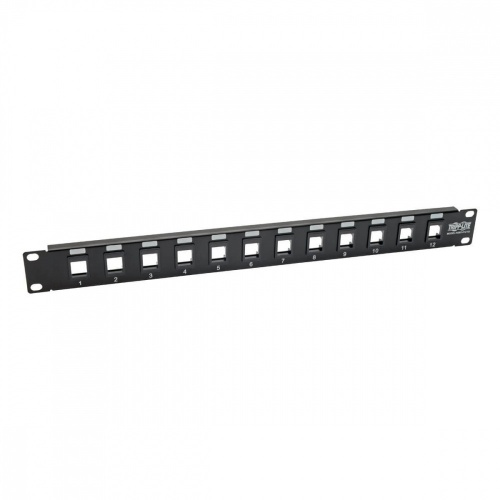 Tripp Lite Panel de Parcheo sin Blindaje Cat5e/6, 12 Puertos, 1U