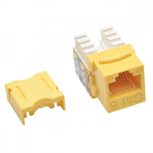 Tripp Lite Jack Cat6 Tipo Keystone Punch Down 110, RJ45, Amarillo