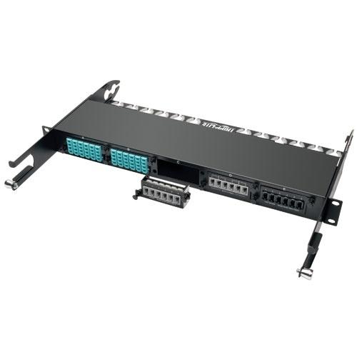 Tripp Lite Módulo de Paso Directo de 6 Adaptadores de Fibra Óptica MTP/MPO, Negro