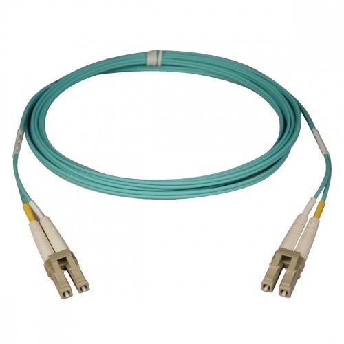 Tripp Lite Cable Fibra Óptica OM3 LC Macho - LC Macho, 5 Metros, Aqua