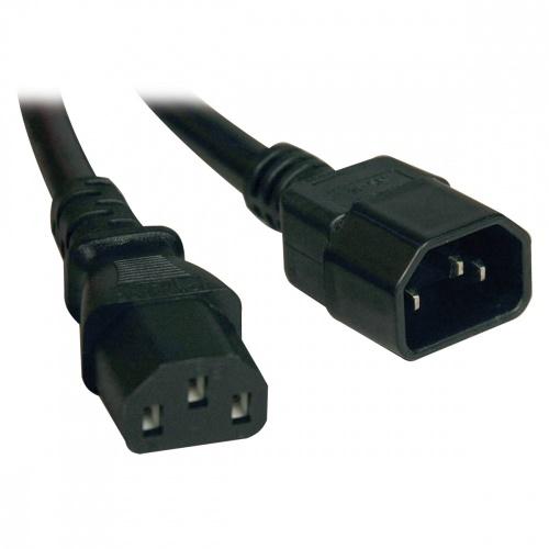 Tripp Lite Cable de Poder para PC C14 Coupler Macho -  C13 Hembra Coupler, 91cm, Negro