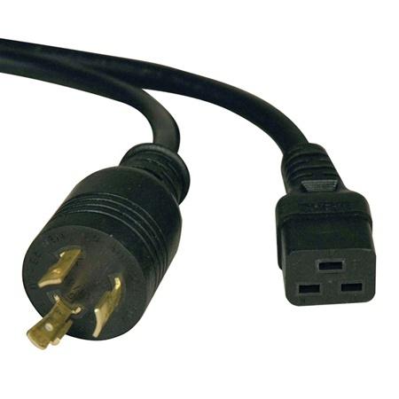 Tripp Lite Cable de Poder para PUD/UPS C19 Coupler Macho - NEMA L6-20P Hembra, 3.05 Metros, Negro