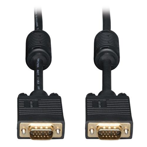 Tripp Lite Cable Coaxial VGA (D-Sub) Macho - VGA (D-Sub) Macho, 22.9 Metros, Negro