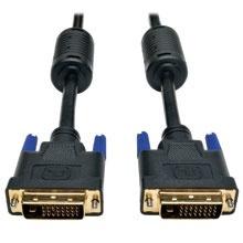Tripp Lite Cable DVI de Doble Enlace para Monitor, DVI-D Macho - DVI-D Macho, 90cm, Negro