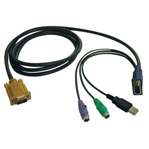 Tripp Lite Cable Combinado para Multiplexores KVM, USB/PS2, 3 Metros