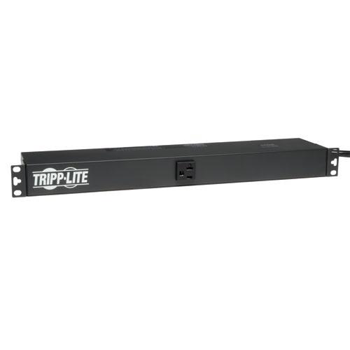 Tripp Lite PDU Monofásico Básico, 120V, 20A, para Instalación Horizontal en 1U de Rack