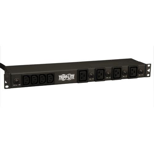 Tripp Lite PDU Monofásico Básico, 30A 208/240V, para Instalación Horizontal de 1U en Rack