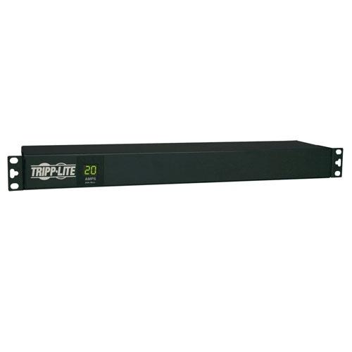 Tripp Lite PDU Monofásico con Medidor Digital, 20A 120V, para instalación Horizontal en 1U de Rack