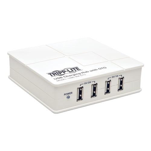 Tripp Lite Estación de Carga USB con Hub OTG, 4x USB 2.0, Blanco