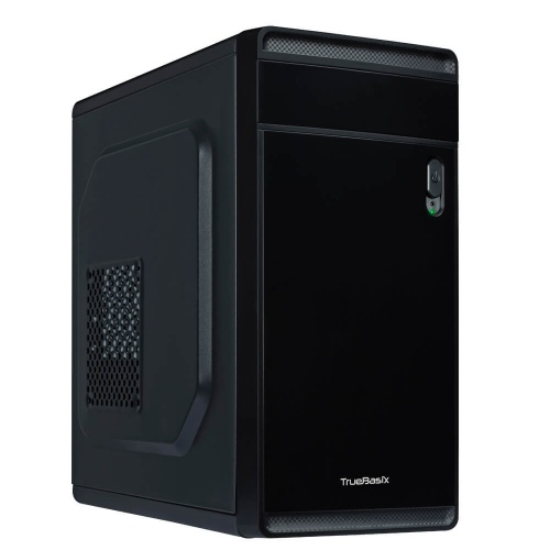 Gabinete True Basix DELTA, Mini-Tower, Micro-ATX/Mini-ATX/Thin Mini-ITX, USB 2.0/USB 3.1, incluye Fuente de 500W, Negro
