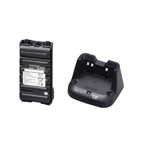 txPro Batería + Cargador para Radio TX-BP264PSB, Ni-MH, 1600mAh, Negro, para ICOM