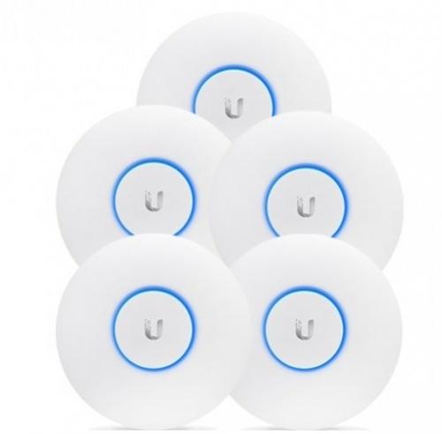 Access Point Ubiquiti Networks UniFi AC Pro 5, Inalámbrico, 1300 Mbit/s, 2.4-5GHz, 3 Antenas de 3dBi, 5 Piezas - no incluye Adaptador PoE