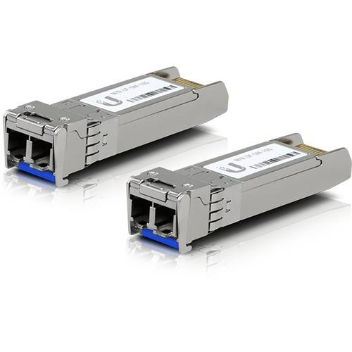 Ubiquiti Networks Módulo Transceptor UFiber SFP+ 10G, LC, 10000 Mbit/s, 1310nm, hasta 10Km, 2 Piezas
