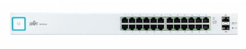 Switch Ubiquiti Networks Gigabit Ethernet UniFi, 24 Puertos 10/100/1000Mbps + 2 Puertos SFP, 52 Gbit/s - Gestionado