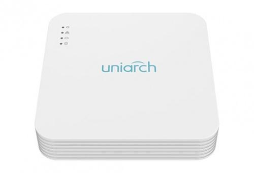 Uniarch NVR de 4 Canales NVR-104LS-P4 para 1 Disco Duro, máx. 10TB, 2x USB 2.0, 1x RJ-45