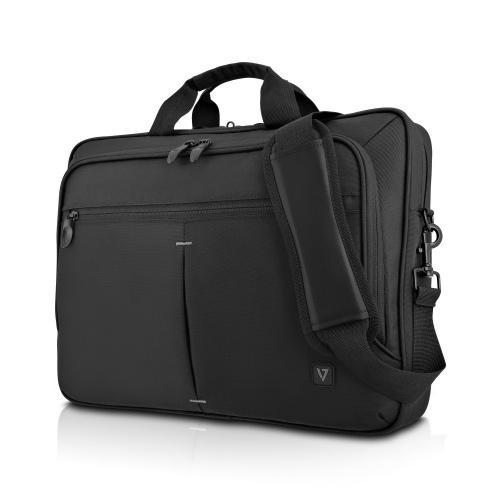 """V7 Maletín de Nylon Urban Traveler para Laptop 15.6"""", Negro"""
