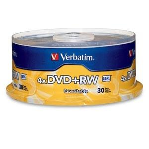 Verbatim Torre de Discos Virgenes para DVD, DVD+RW, 4x, 30 Discos