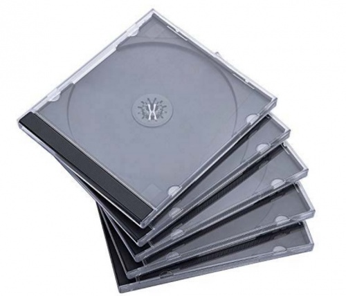 Verbatim Caja para CD/DVD, 5 Piezas, Negro/Transparente