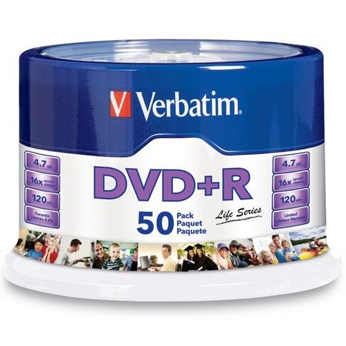 Verbatim Torre de Discos Virgenes, DVD+R, 16x, 4.7GB, 50 Piezas