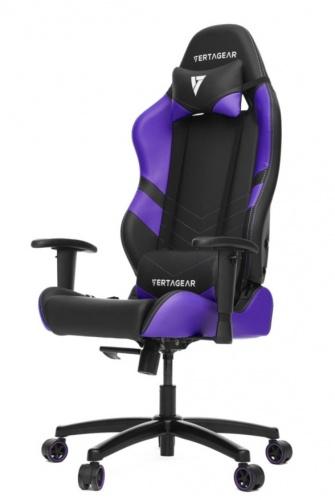 Vertagear Silla Gamer SL1000, hasta 150Kg, Negro/Púrpura